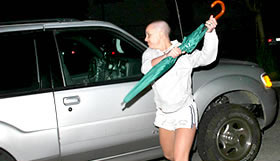 Brit Attacking Car